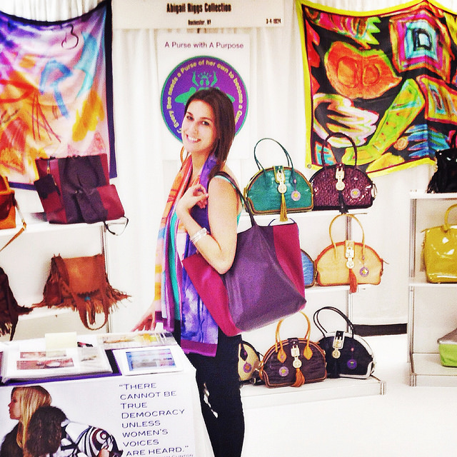 With the Earhart Tote in our booth at the Gift Show