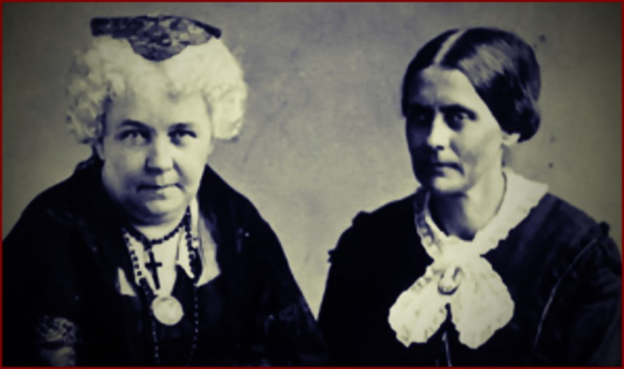 Elizabeth Cady Stanton & Susan B. Anthony (photo from accessible-archives.com)