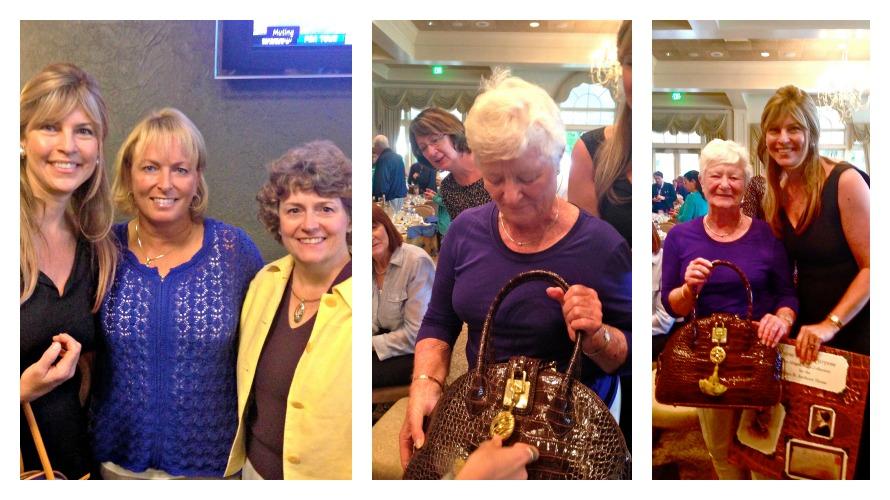 Left to Right: Gail, Dottie & director of the SBA House Debra Hughes; Raffle Winner Gretchen Wolk, Gretchen & Gail