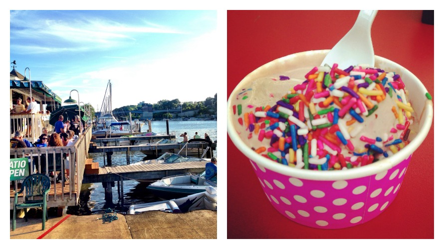 Nothing says summer more than hanging by the lake at Schooner's Riverside Pub and a little Abbott's frozen custard