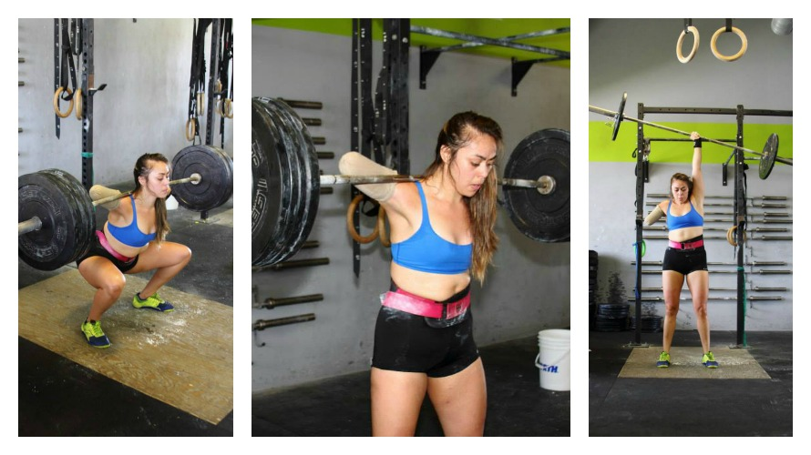 Krystal trains in CrossFit, an intensive program that combines weightlifting, plyometrics, cardio, gymnastics and other exercises (photos courtesy of Krystal Cantu Facebook)