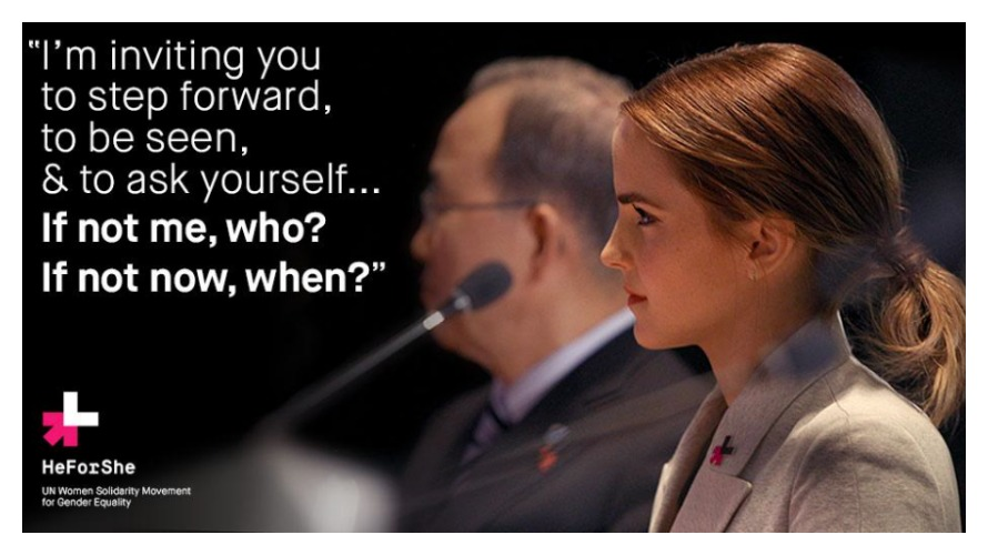 UN Women Goodwill Ambassador Emma Watson speaking at the UN about gender inequality and the HeForShe movement