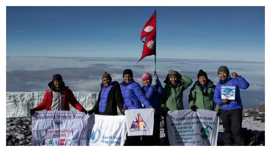 Mt. Kilimanjaro in Africa, March 2013 (photo c/o Seven Women Seven Summits)