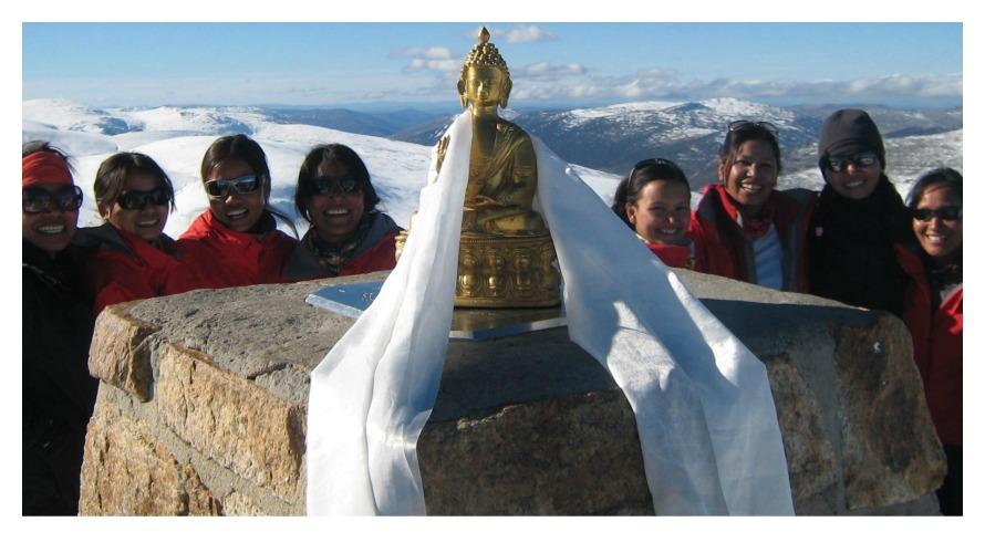 Mt. Kosciuszko in Australia, 2010 (photo c/o Seven Women Seven Summits)
