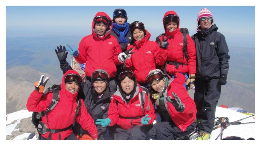 Mt. Elbrus in Europe, 2010 (photo c/o Seven Women Seven Summits)