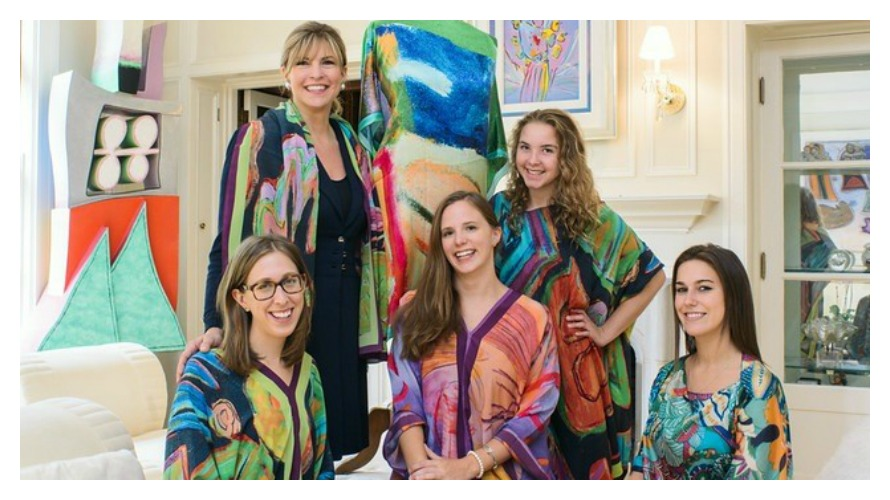 The ARC team wearing Abby Riggs' Shawls For Shelter