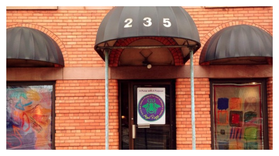 The entrance to 235 Park Ave, the Parkleigh Pop-Up Shop
